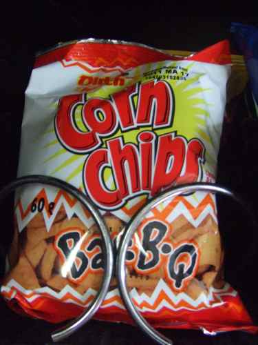 corn chips bbq flavour in vending machine
