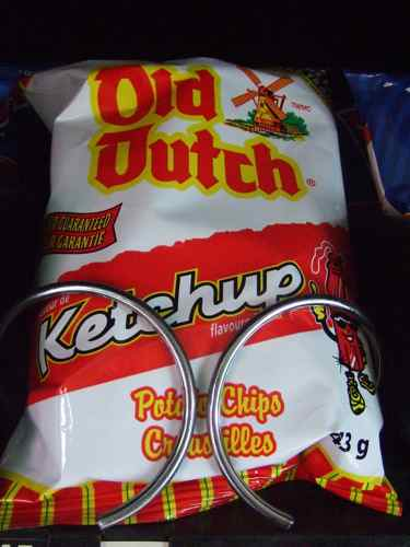 old dutch potato chips in ketchup flavour