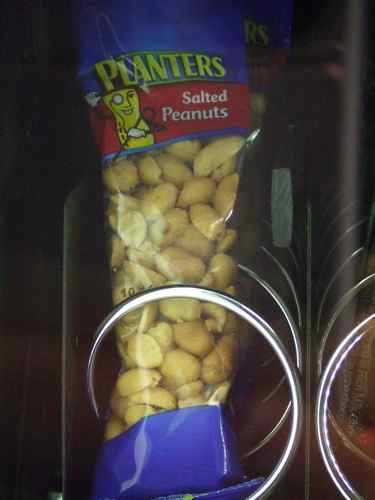 peanuts in a to-go pack for a snack
