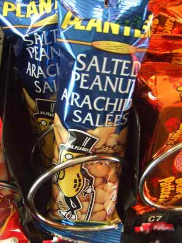 salted peanuts as a healthy snack machine option