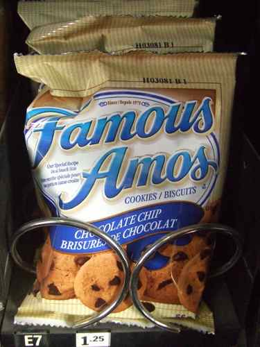 famous amous cookies in vending machine