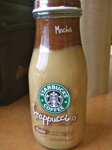 frapuccino in vending machine